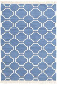 London - Blauw/Gebroken Wit Vloerkleed 160X230 Echt Modern Handgeweven Blauw/Beige (Wol, India)