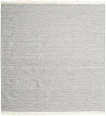 Melange - Grijs Vloerkleed 250X250 Echt Modern Handgeweven Vierkant Lichtgrijs Groot (Wol, India)