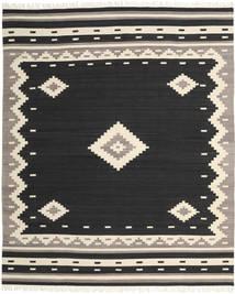 Tribal - Zwart Vloerkleed 250X300 Echt Modern Handgeweven Zwart/Beige Groot (Wol, India)