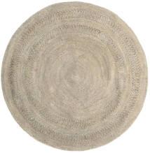 Buitenvloerkleed Kex - Greige Vloerkleed Ø 150 Echt Modern Handgeweven Rond (Jute Vloerkleed India)