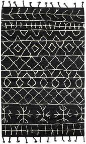Moss Berber - Zwart Vloerkleed 180X275 Echt Modern Handgeknoopt Zwart (Wol, India)