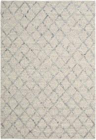 Rut - Zilver/Grijs Melange Vloerkleed 200X300 Echt Modern Handgeweven Lichtgrijs/Donkerbeige (Wol, India)