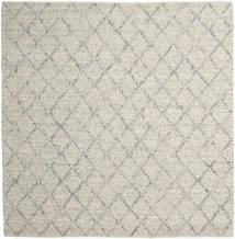 Rut - Zilver/Grijs Melange Vloerkleed 250X250 Echt Modern Handgeweven Vierkant Lichtgrijs/Donkerbeige Groot (Wol, India)
