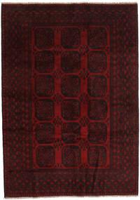 Afghan Vloerkleed 203X286 Echt Oosters Handgeknoopt Donkerrood (Wol, Afghanistan)