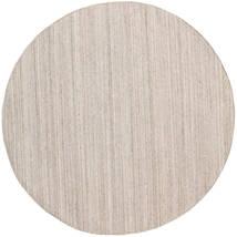 Buitenvloerkleed Petra - Beige_Mix Vloerkleed Ø 200 Echt Modern Handgeweven Rond Lichtgrijs/Wit/Creme ( India)