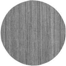 Buitenvloerkleed Petra - Dark_Mix Vloerkleed Ø 200 Echt Modern Handgeweven Rond Lichtgrijs/Donkergrijs/Blauw ( India)