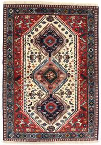 Yalameh Vloerkleed 98X141 Echt Oosters Handgeknoopt Donkerrood/Donkerblauw (Wol, Perzië/Iran)