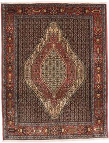 Senneh Vloerkleed 124X157 Echt Oosters Handgeknoopt Donkerrood/Zwart (Wol, Perzië/Iran)