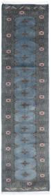 Pakistan Bokhara 2Ply Vloerkleed 75X302 Echt Oosters Handgeknoopt Tapijtloper Blauw/Donkergrijs (Wol, Pakistan)