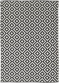 Torun - Zwart/Neutral Vloerkleed 140X200 Echt Modern Handgeweven Zwart/Lichtgrijs (Katoen, India)