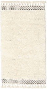 Dixon Vloerkleed 100X180 Echt Modern Handgeweven Beige/Wit/Creme (Wol, India)