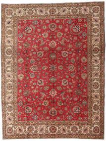 Tabriz Vloerkleed 289X382 Echt Oosters Handgeknoopt Donkerbruin/Donkerrood Groot (Wol, Perzië/Iran)