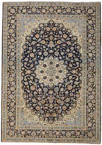 Keshan Vloerkleed 273X388 Echt Oosters Handgeknoopt Donkergrijs/Lichtgrijs Groot (Wol, Perzië/Iran)