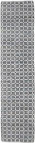 Elna - Grijs Vloerkleed 80X350 Echt Modern Handgeweven Tapijtloper Lichtgrijs/Purper (Katoen, India)