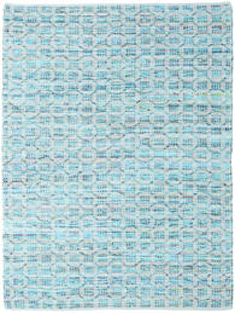 Elna - Bright_Blue Vloerkleed 170X240 Echt Modern Handgeweven Lichtblauw/Turquoise Blauw (Katoen, India)