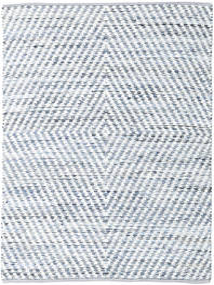 Hilda - Denim/Wit Vloerkleed 170X240 Echt Modern Handgeweven Beige/Lichtblauw (Katoen, India)
