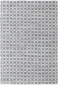 Elna - Grijs Vloerkleed 170X240 Echt Modern Handgeweven Lichtgrijs/Lichtblauw (Katoen, India)