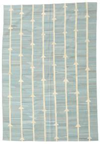 Kelim Moderne Vloerkleed 194X281 Echt Modern Handgeweven Turquoise Blauw/Pastel Groen (Wol, Afghanistan)