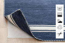 Anti Slip, Non-Woven Vloerkleed 130X190 Modern Blauw/Lichtgrijs ( België)