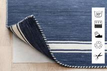 Anti Slip, Non-Woven Vloerkleed 240X340 Modern Blauw/Lichtgrijs ( België)