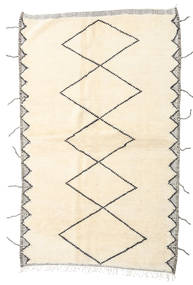 Berber Moroccan - Beni Ourain Vloerkleed 160X255 Echt Modern Handgeknoopt Tapijtloper Beige/Wit/Creme (Wol, Marokko)