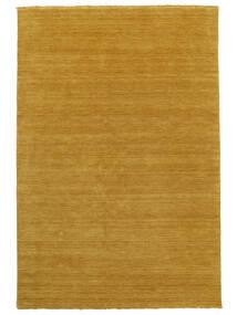 Handloom Fringes - Geel Vloerkleed 160X230 Modern Oranje/Lichtbruin (Wol, India)