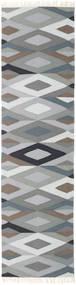 Zimba - Grijs Vloerkleed 80X300 Echt Modern Handgeweven Tapijtloper Lichtgrijs/Donkergrijs (Wol, India)