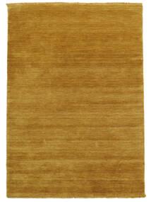 Handloom Fringes - Geel Vloerkleed 140X200 Modern Lichtbruin/Geel (Wol, India)