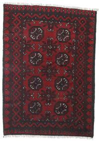 Afghan Vloerkleed 78X109 Echt Oosters Handgeknoopt Donkerrood/Zwart (Wol, Afghanistan)