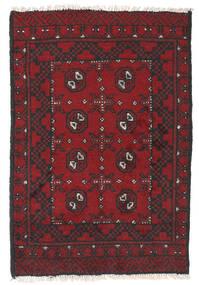 Afghan Vloerkleed 76X112 Echt Oosters Handgeknoopt Donkerrood/Zwart (Wol, Afghanistan)