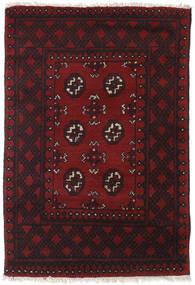 Afghan Vloerkleed 78X110 Echt Oosters Handgeknoopt Donkerbruin/Donkerrood (Wol, Afghanistan)
