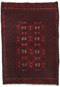 Afghan Vloerkleed 80X113 Echt Oosters Handgeknoopt Donkerrood/Zwart (Wol, Afghanistan)