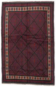 Beluch Vloerkleed 150X235 Echt Oosters Handgeknoopt Donkerrood/Zwart (Wol, Afghanistan)
