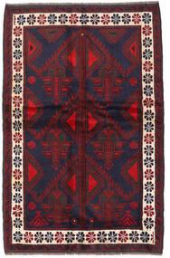 Beluch Vloerkleed 140X220 Echt Oosters Handgeknoopt Donkerrood/Donkerpaars (Wol, Afghanistan)