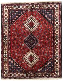 Yalameh Vloerkleed 156X195 Echt Oosters Handgeknoopt Donkerrood/Donkergrijs (Wol, Perzië/Iran)