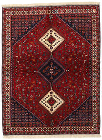 Yalameh Vloerkleed 155X200 Echt Oosters Handgeknoopt Donkerrood (Wol, Perzië/Iran)