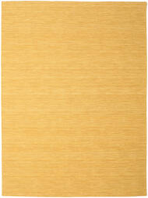 Kelim Loom - Geel Vloerkleed 250X350 Echt Modern Handgeweven Lichtbruin/Donkerbeige Groot (Wol, India)