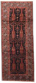 Beluch Vloerkleed 125X305 Echt Oosters Handgeknoopt Tapijtloper Donkerrood/Zwart (Wol, Perzië/Iran)