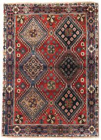 Yalameh Vloerkleed 115X162 Echt Oosters Handgeknoopt Donkerbruin/Donkerrood (Wol, Perzië/Iran)