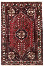 Abadeh Vloerkleed 100X150 Echt Oosters Handgeknoopt Donkerrood/Zwart (Wol, Perzië/Iran)