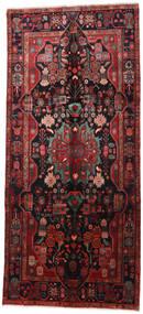 Nahavand Vloerkleed 160X360 Echt Oosters Handgeknoopt Tapijtloper Donkerrood/Zwart (Wol, Perzië/Iran)