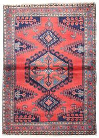 Wiss Vloerkleed 110X155 Echt Oosters Handgeknoopt Donkerpaars/Donkergrijs (Wol, Perzië/Iran)