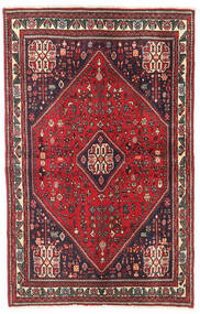 Abadeh Vloerkleed 104X163 Echt Oosters Handgeknoopt Rood/Donkerrood (Wol, Perzië/Iran)
