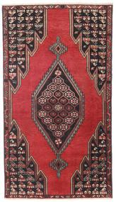 Saveh Patina Vloerkleed 98X176 Echt Oosters Handgeknoopt Zwart/Donkerrood (Wol, Perzië/Iran)