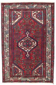 Hamadan Patina Vloerkleed 100X153 Echt Oosters Handgeknoopt Donkerpaars/Donkerrood (Wol, Perzië/Iran)