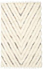 Barchi/Moroccan Berber - Indiaas Vloerkleed 154X250 Echt Modern Handgeknoopt Beige/Wit/Creme (Wol, India)