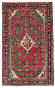 Hamadan Patina Vloerkleed 133X210 Echt Oosters Handgeknoopt Donkerrood/Donkerbruin (Wol, Perzië/Iran)