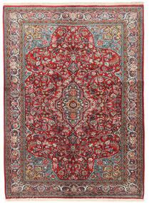 Sarough Vloerkleed 133X183 Echt Oosters Handgeknoopt Donkerrood/Beige (Wol, Perzië/Iran)