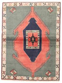 Klardasht Vloerkleed 105X140 Echt Oosters Handgeknoopt Donkergrijs/Lichtroze (Wol, Perzië/Iran)