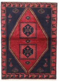 Klardasht Vloerkleed 105X140 Echt Oosters Handgeknoopt Zwart/Rood (Wol, Perzië/Iran)